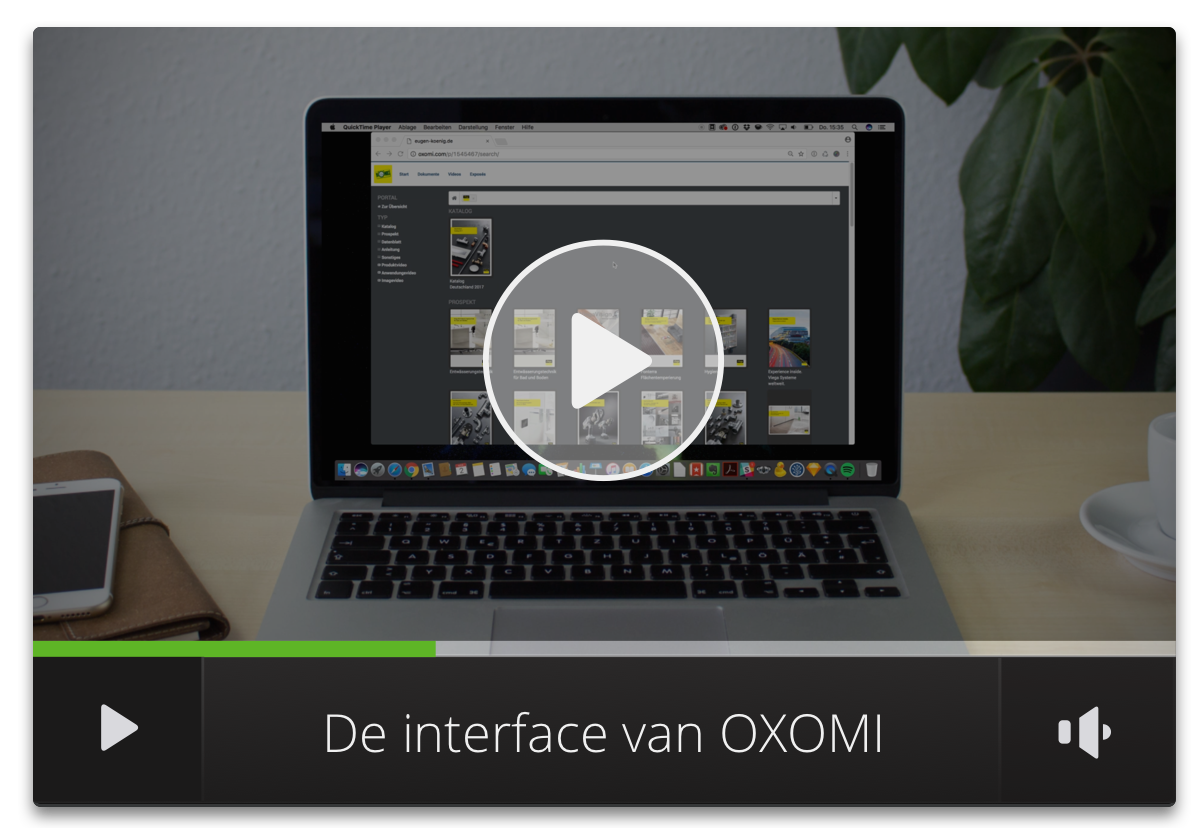 De interface van OXOMI